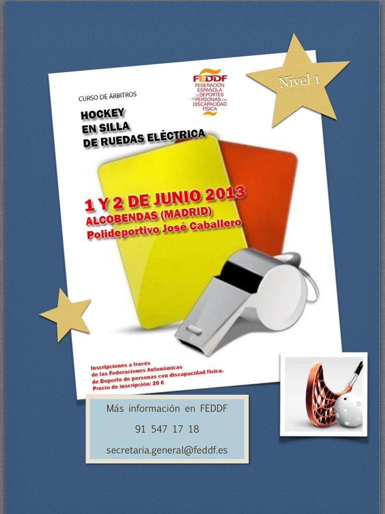 El curso de árbitro de Hockey en Silla Eléctrica se celebrará los días 1 y 2 de junio en Alcobendas