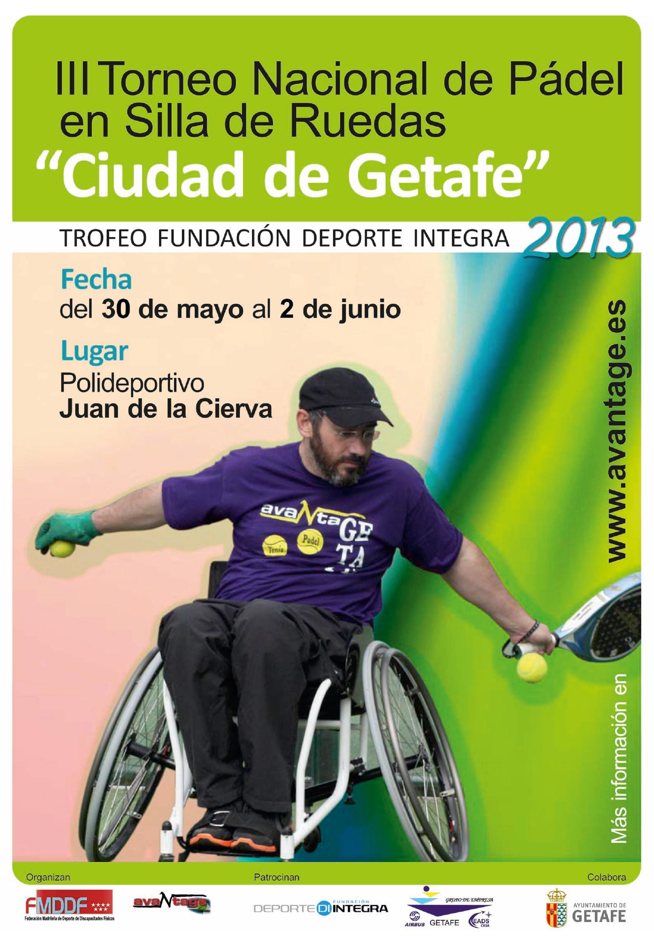 """III Torneo Nacional de Pádel en Silla de Ruedas """"Ciudad de Getafe"""""""