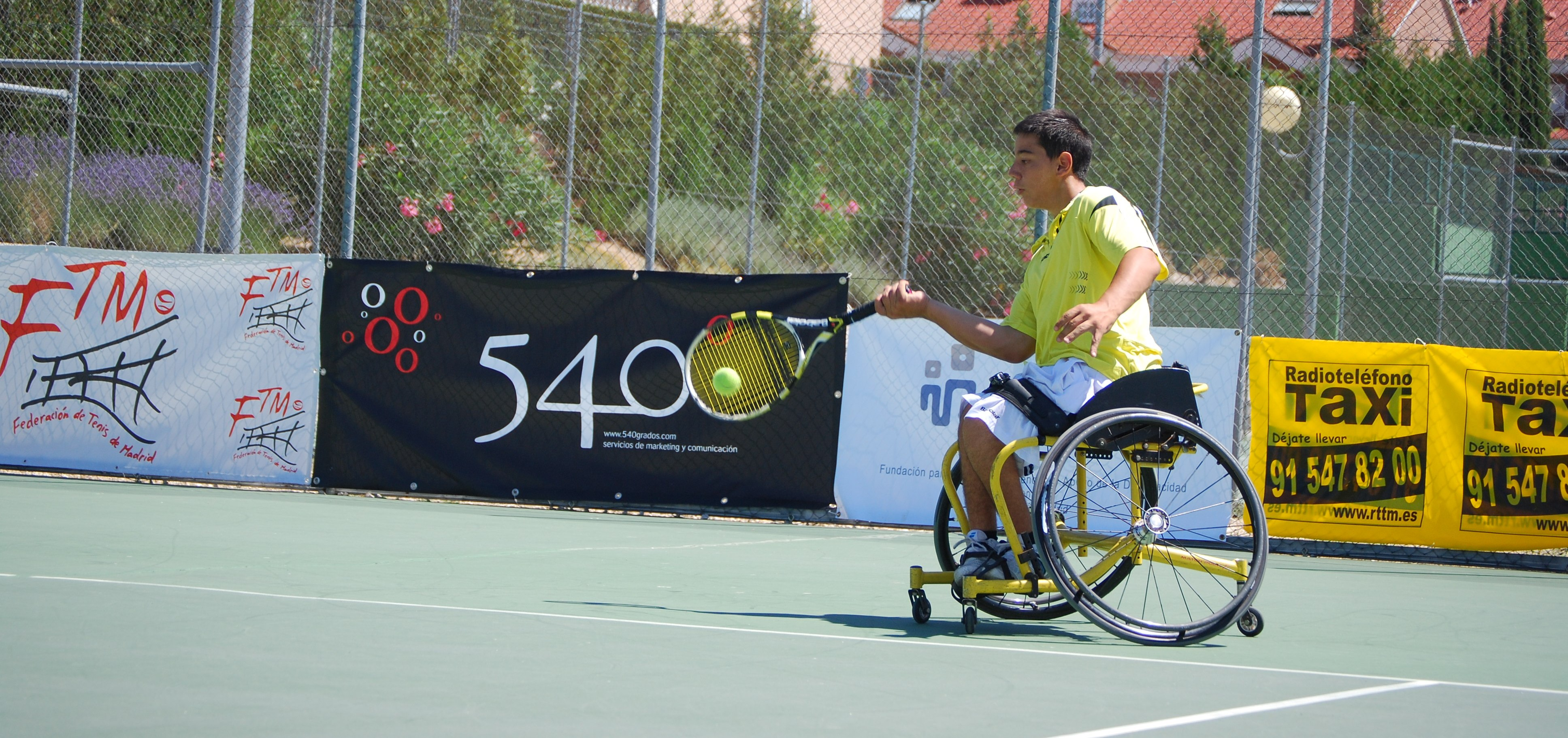 Roberto Chamizo, campeón del V Open Ciudad de Rivas de tenis en silla de ruedas