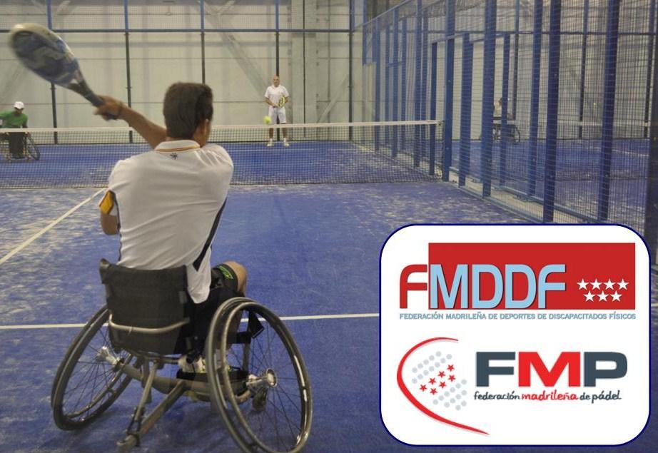 Acuerdo entre la FMDDF y la Federación Madrileña de Pádel para promocionar el pádel en silla en nuestra región