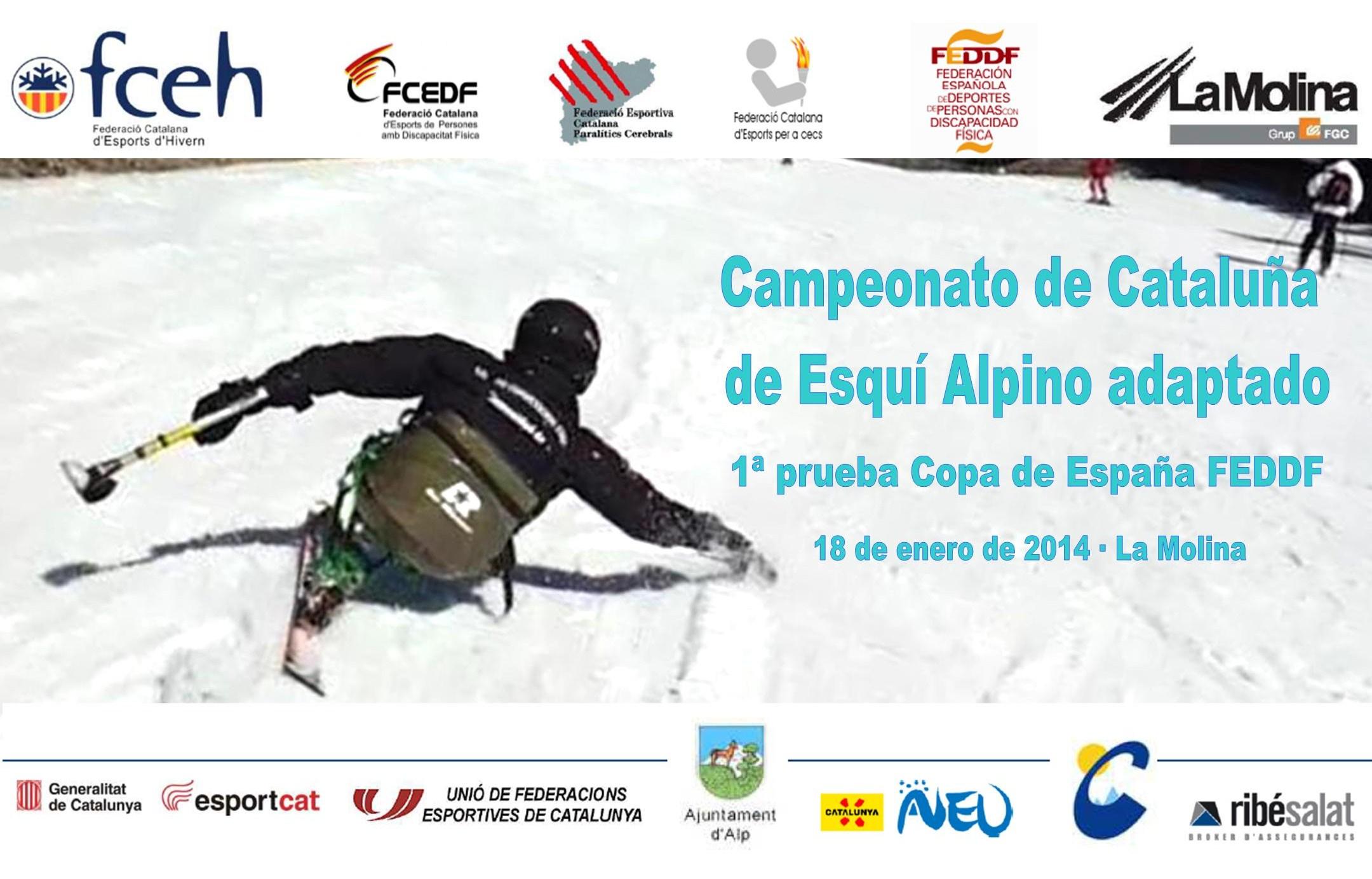 La Molina acogerá la 1ª prueba de la Copa de España de Esquí de la FEDDF el próximo 18 de enero