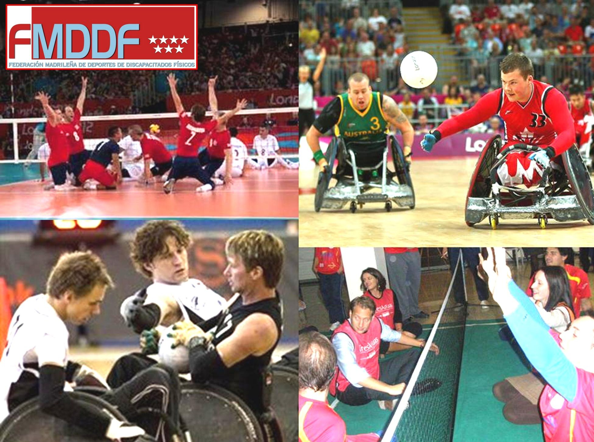La FMDDF añade dos nuevas disciplinas deportivas a la oferta abierta a nuestros deportistas: Rugby en silla y Sitting Volley