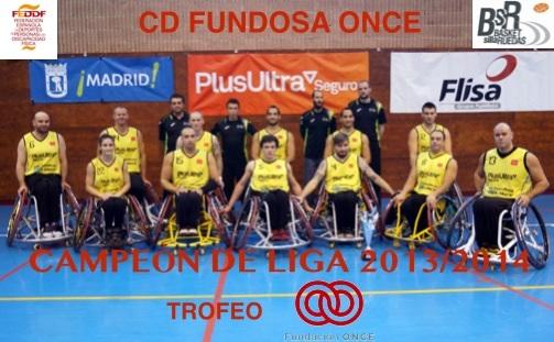 Enhorabuena al CD Fundosa ONCE, Campeón de Liga de BSR 2013-2014