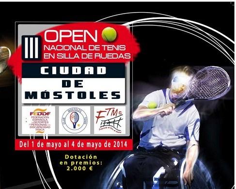 El III Open Nacional de Tenis en Silla Ciudad de Móstoles contará este año con una dotación en premios de 2000€