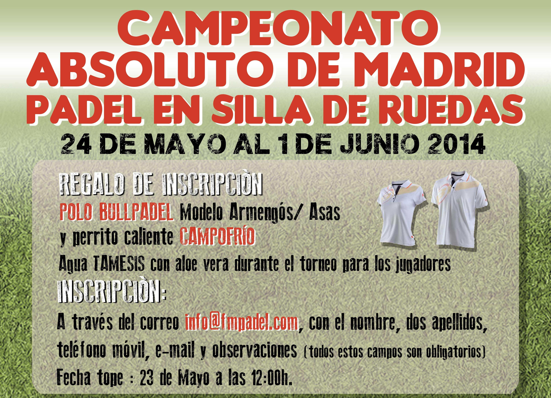 I Campeonato Absoluto de Madrid de Pádel en Silla