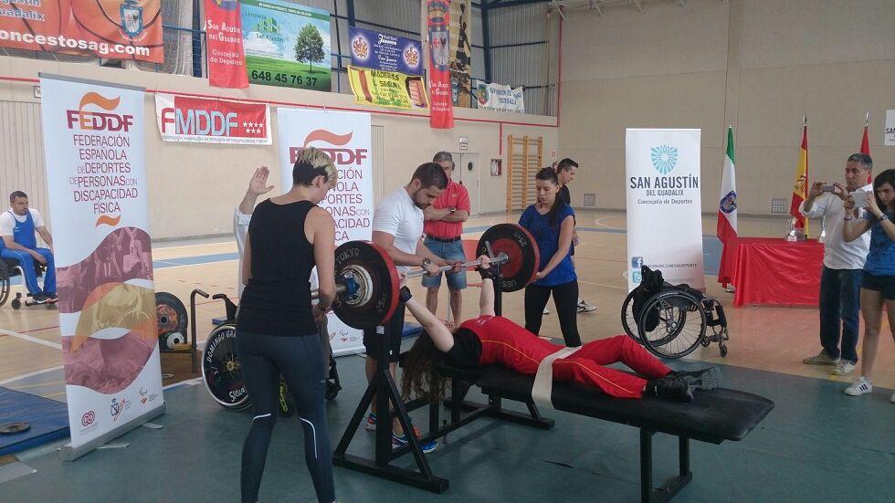 Luis Miguel Pita gana para la selección gallega el Campeonato de España de Halterofilia adaptada