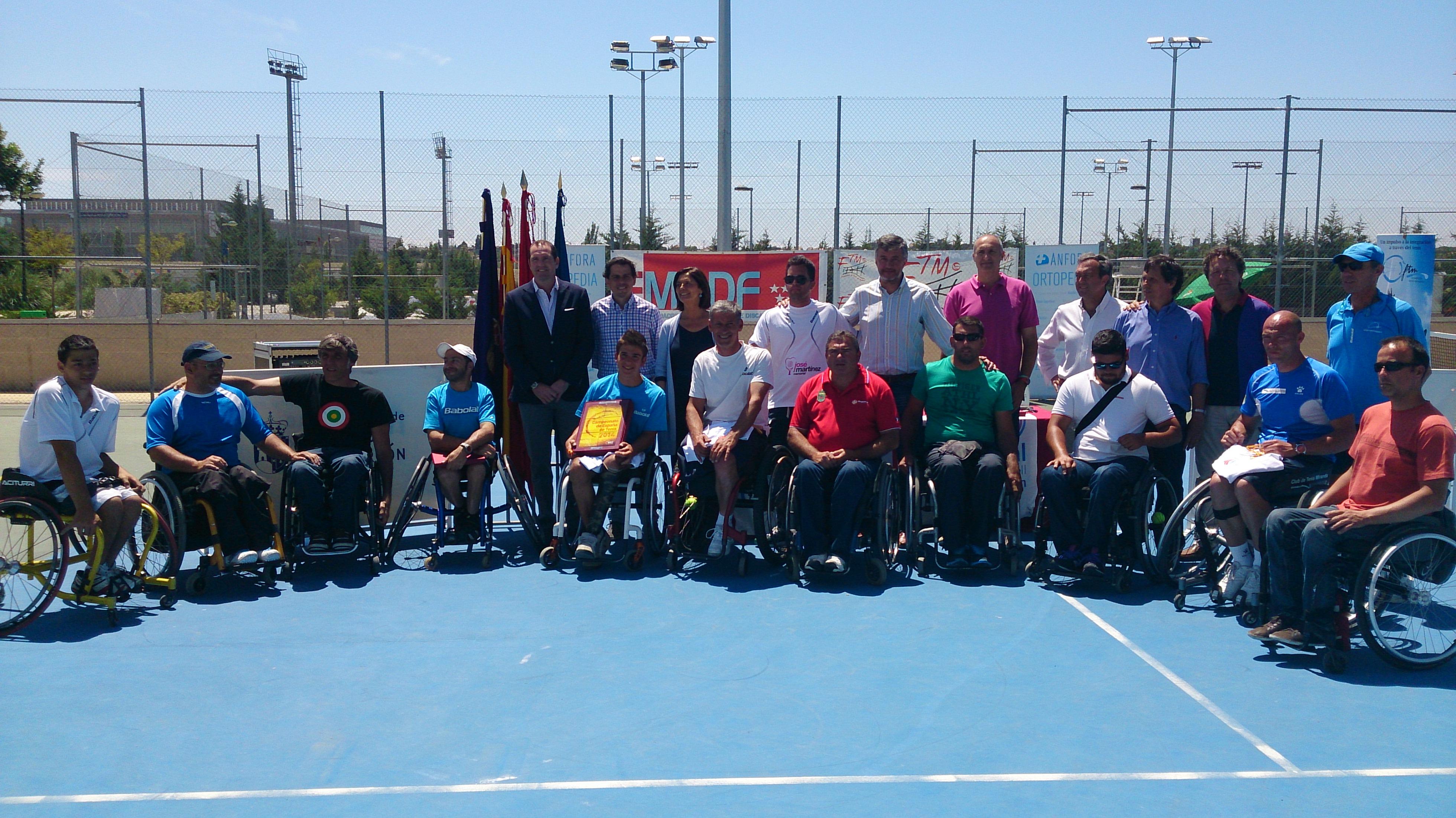 Martín de la Puente, campeón de España por partida doble en el Campeonato Absoluto Individual y Doble de Tenis en Silla