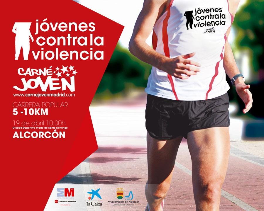 Carné Joven Madrid y el Ayuntamiento de Alcorcón organizan la Carrera contra la violencia el próximo 19 de abril