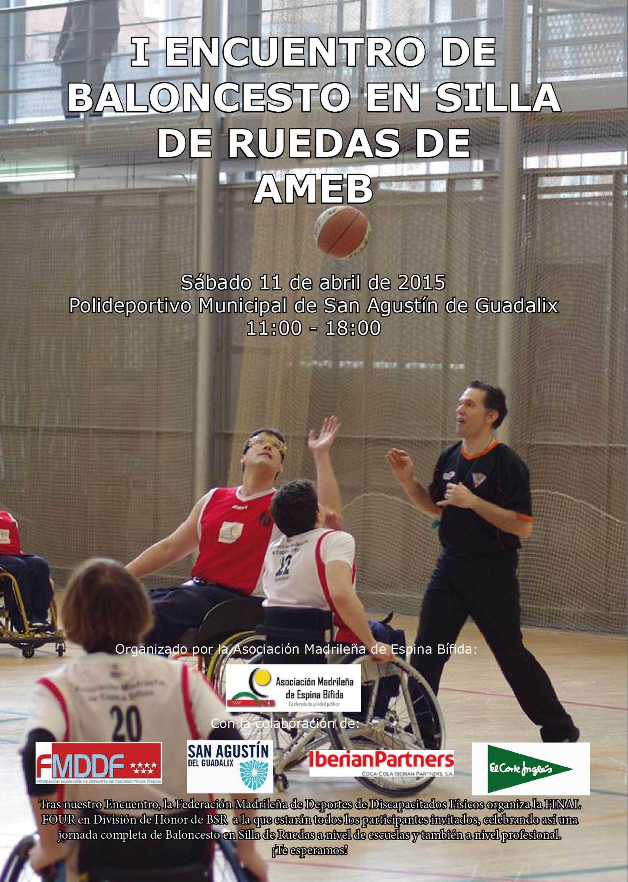 AMEB organiza en San Agustín del Guadalix el I Encuentro de Escuelas de Baloncesto en Silla de Ruedas
