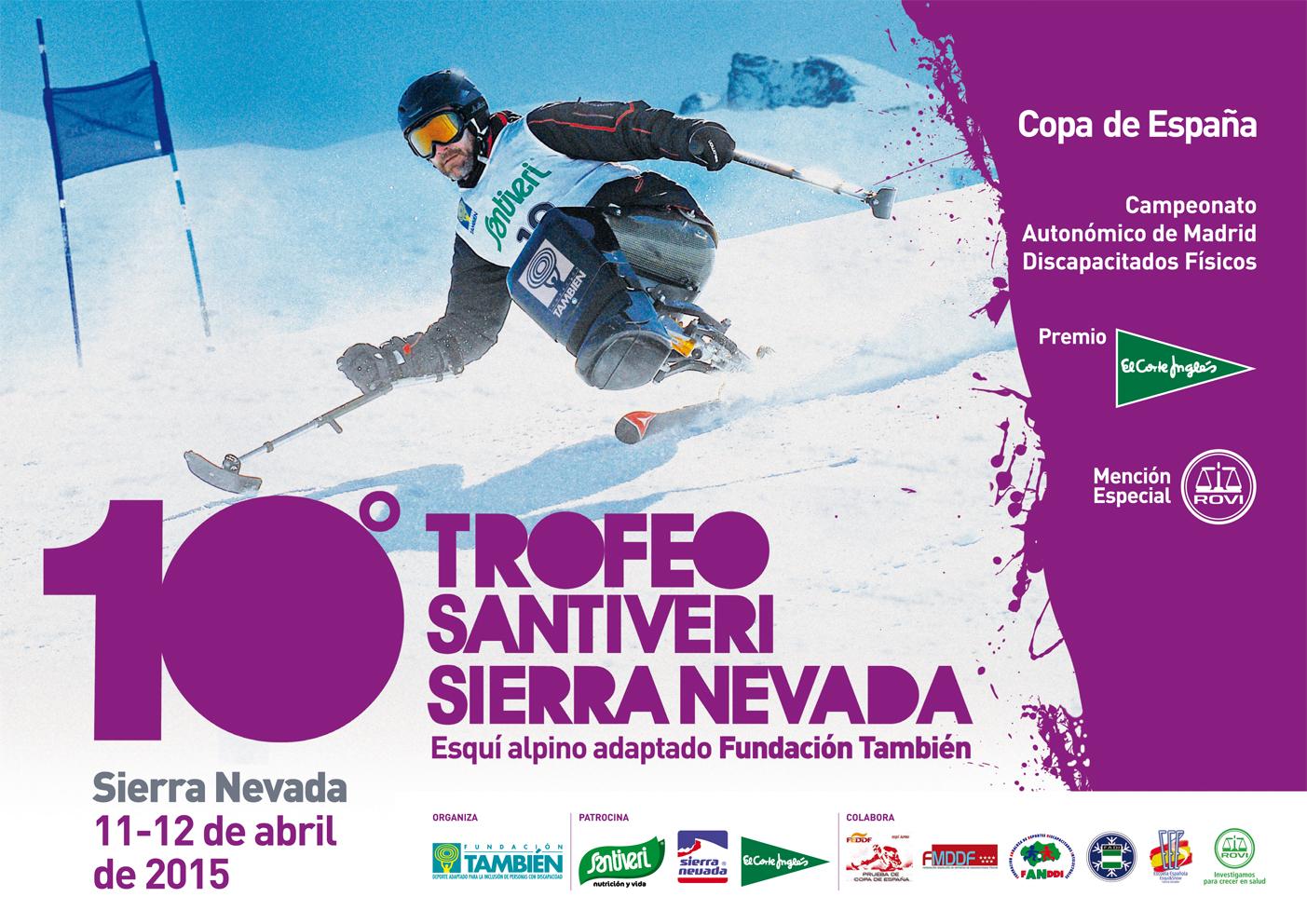 La 10ª edición del Trofeo Santiveri Sierra Nevada reunirá en la misma prueba a deportistas con discapacidad física, intelectual y sensorial