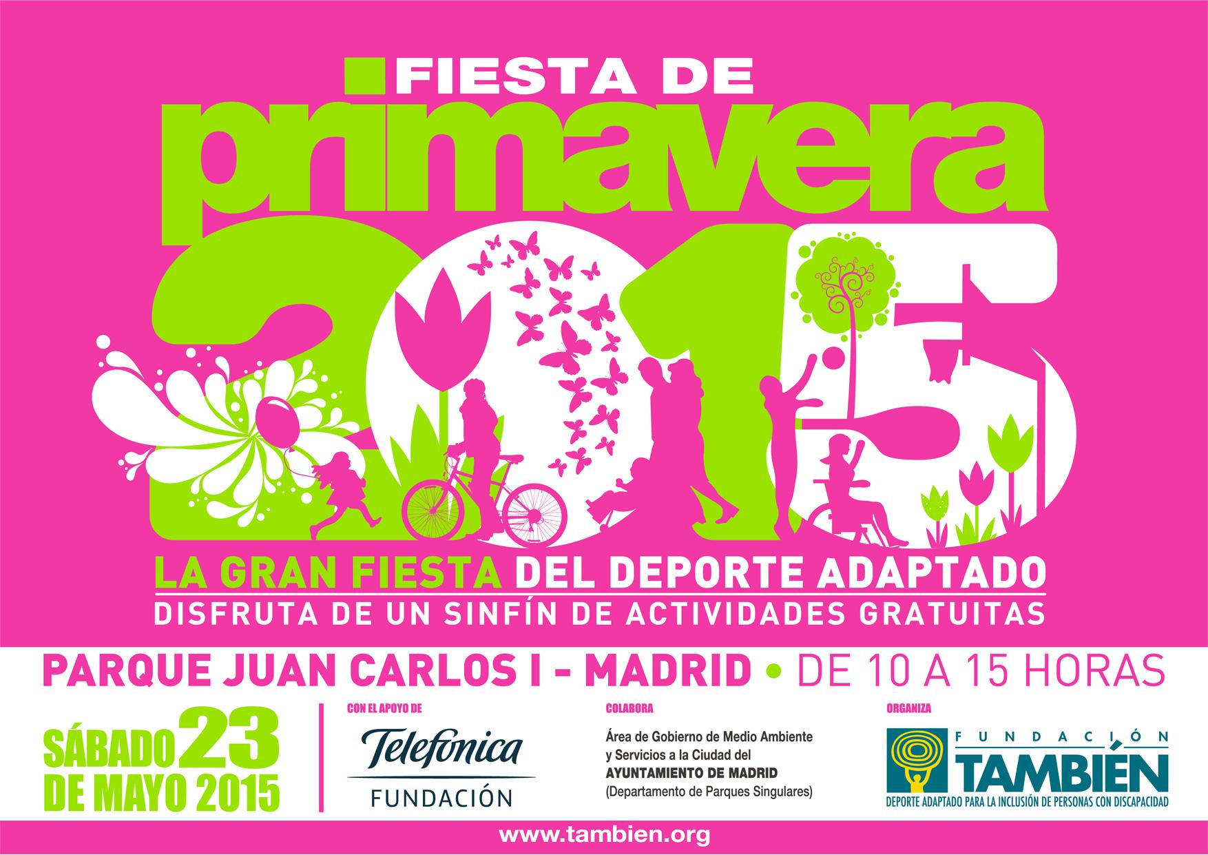 Fundación También celebra la primavera con la gran fiesta del deporte adaptado el sábado 23 de mayo en Madrid