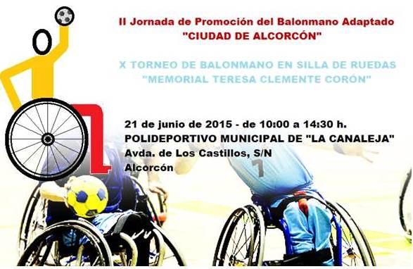 Este domingo se celebrará en Alcorcón el X Memorial Teresa Clemente Corón de Balonmano en silla de ruedas