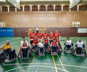 Debut de la Selección Española de rugby en silla